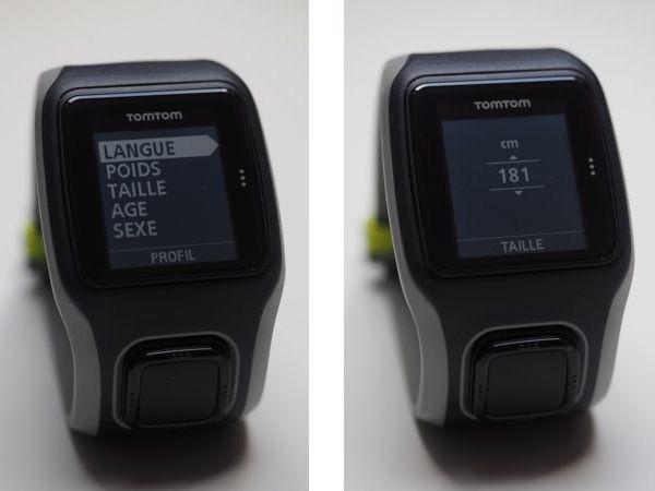 Configuration TomTom GPS Runner