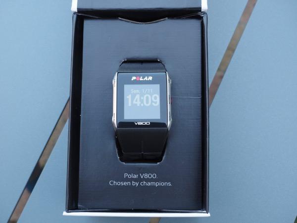 Polar V800 montre packaging