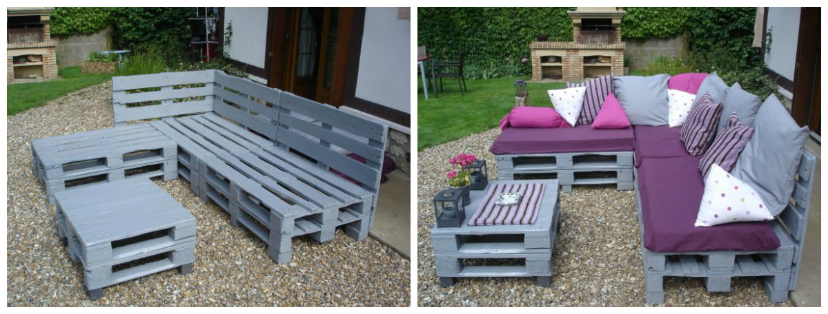 5 projets en palette pour le jardin