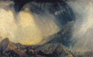 J.M.W Turner Snow Storm: Hannibal and his Army Crossing the Alps 1812 © Tate Photography