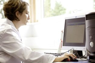 A student in the University's Hatchcroft labs