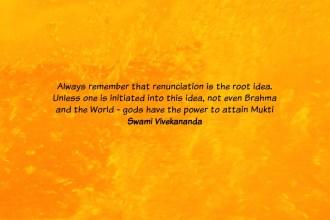 Renunciation quote by Vivekananda