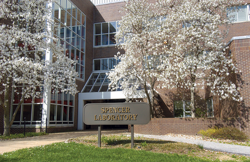 Spencer Lab Trees in Bloom