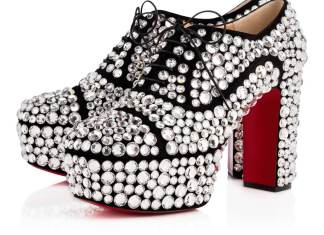 Louboutin Royal Strass Veau Velours/Strass