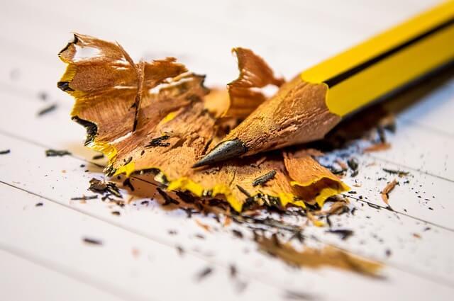 Οταν ξύσεις το μολύβι, κράτησε τα ξύσματα γιατί είναι χρήσιμα