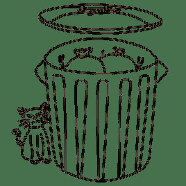 Για να μη κάνουν μαντάρα τα σκουπίδια σου οι γάτες και τα πουλιά