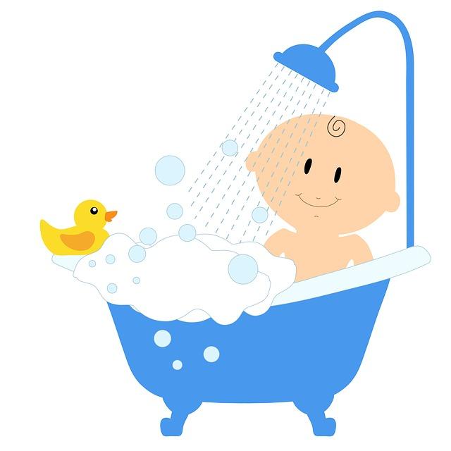 Μπάνιο το μωρό χωρίς να γεμίζει νερά ο τόπος