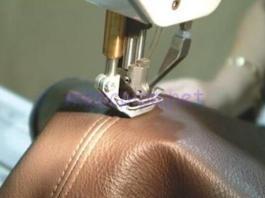 Ράψιμο μηχανής σε δέρμα ή πλαστικό