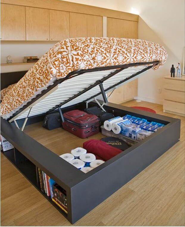 Αποθηκευτικός χώρος στο κρεβάτι