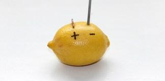 Αντί για μπαταρίες, λεμόνια