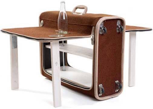Βαλίτσα που γίνεται τραπέζι