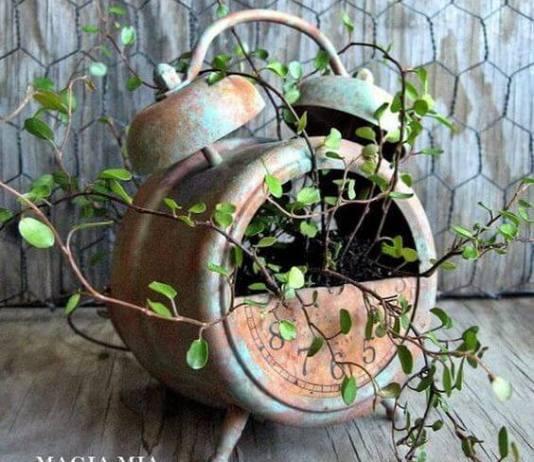 Γλάστρες φτιαγμένες από παλιά αντικείμενα,