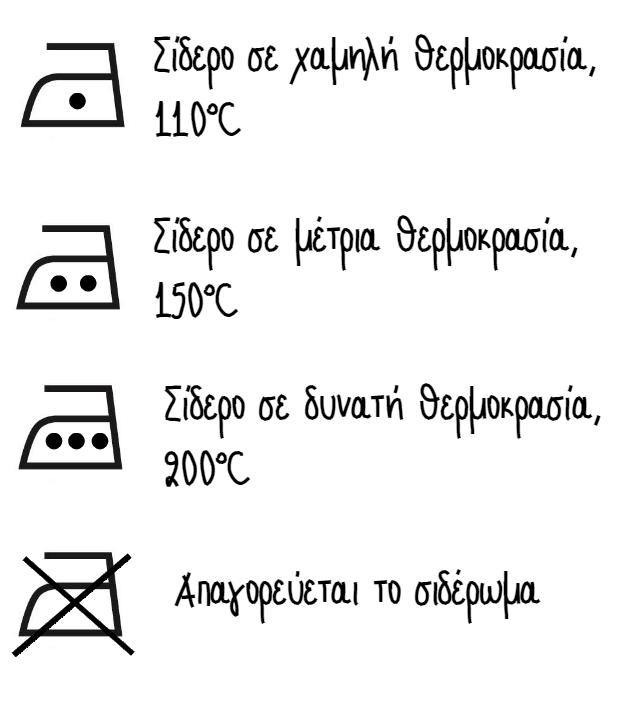 Σύμβολα σιδερώματος στις ετικέτες