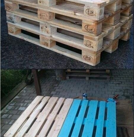 Φτιάξτε διπλό κρεβάτι με παλέτες