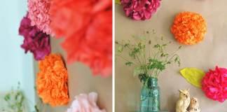 Φτιάξτε όμορφα διακοσμητικά λουλούδια από χαρτί