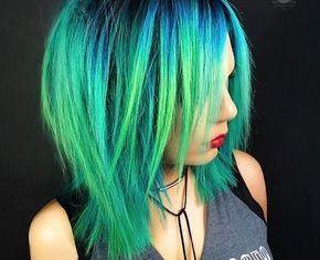 Πράσινο χρώμα στα μαλλιά