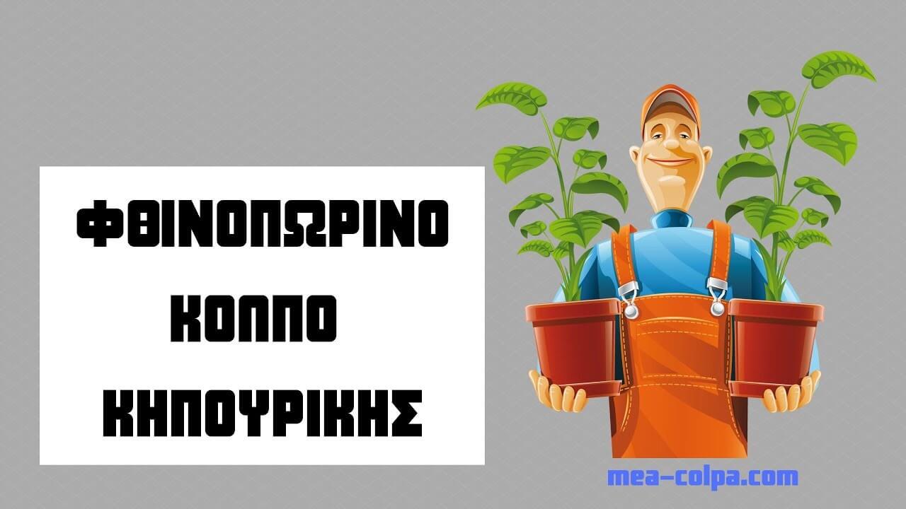 Ενα απλό φθινοπωρινό κόλπο για τον κήπο