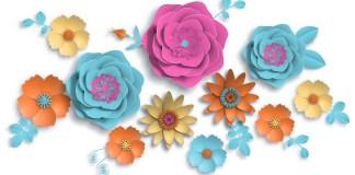 Φτιάξτε λουλούδια με την τεχνική origami και χαρτοπετσέτες
