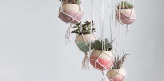 Φτιάξτε δίχτυ για κρεμαστές γλάστρες