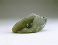 BATEA407 - Jade carp and young amid swirling waves