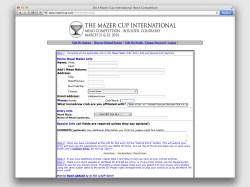 Mazer Cup Site