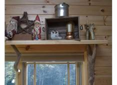 Part of the shelf with old and newpieces