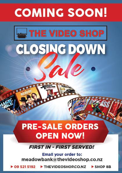 Video Shop Closing Sale