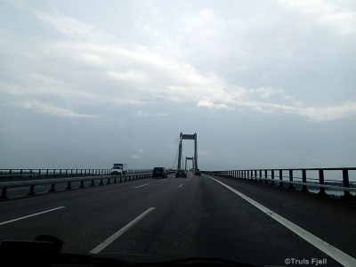 Lillebælt bridge from the mainland Jylland to the island of Fyn