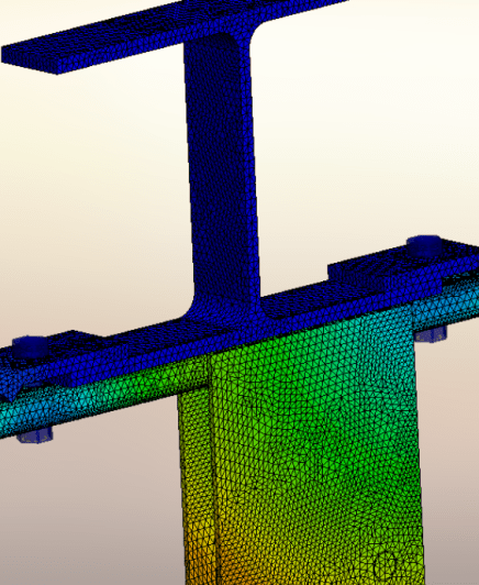 fea of loft support beam