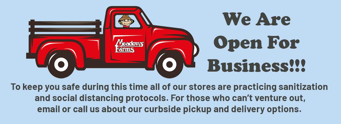 We Are Open For Business!!! Garden centers and nurseries in Virginia, Maryland, and West Virginia are considered essential businesses. To keep you safe during this time all of our stores are practicing sanitization and social distancing protocols. For those who can't venture out, email or call us about our curbside pickup and delivery options.
