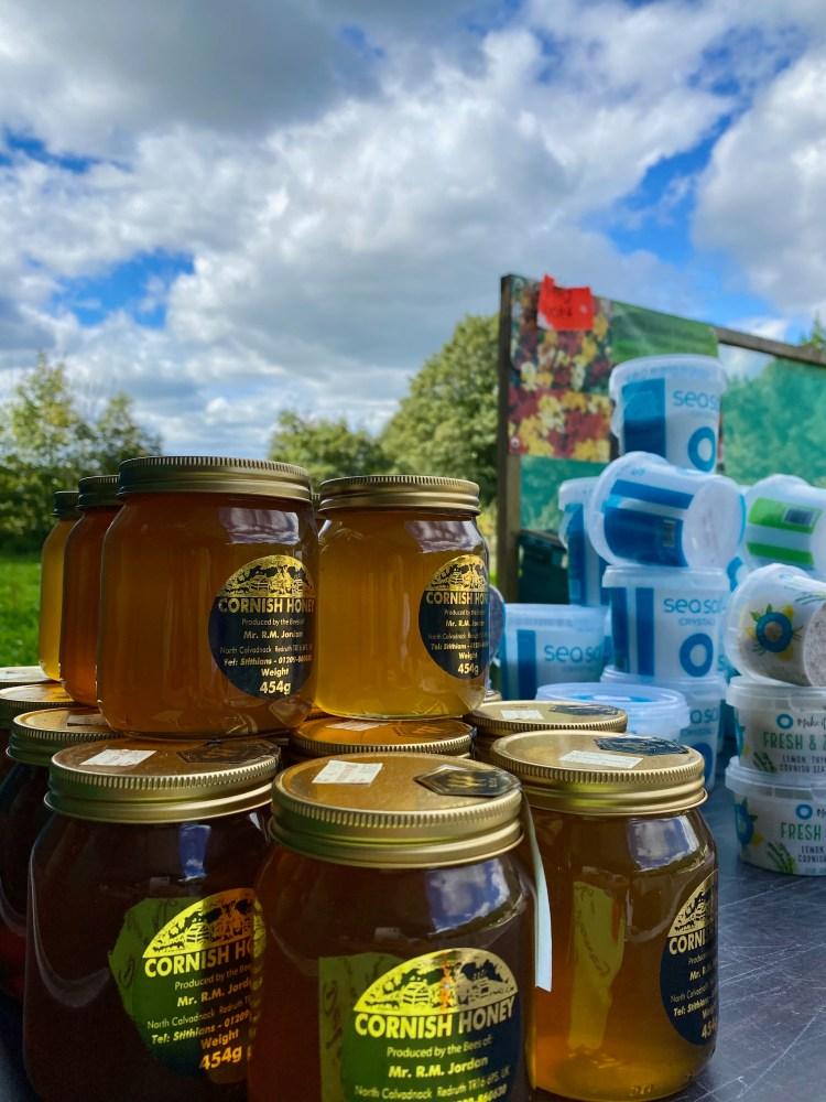 Cornish honey and salt display