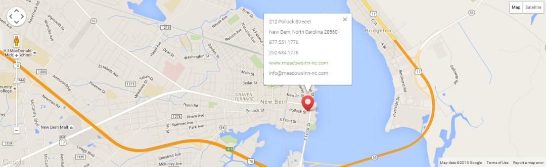 Meadows Inn, New Bern, NC on Google Maps