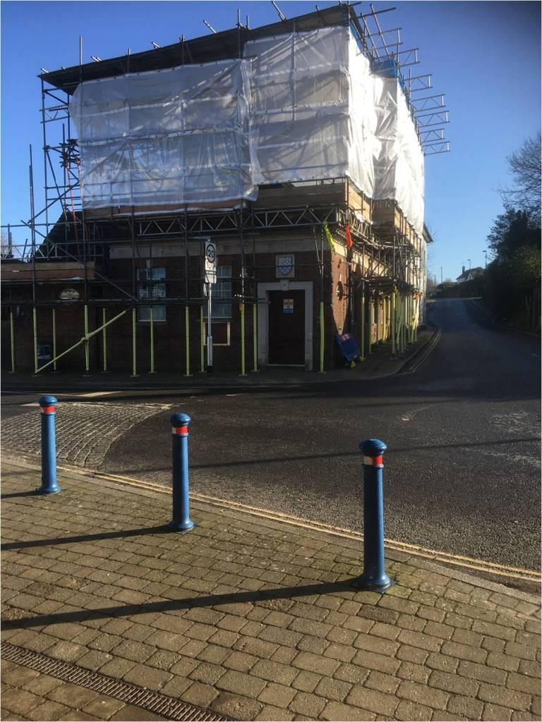 outside scaffolding