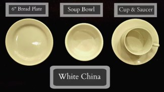 Tableware Rentals - White Place Setting