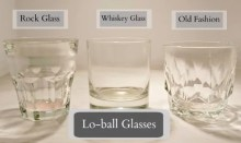 Glassware Rentals - Lo-Ball Glasses