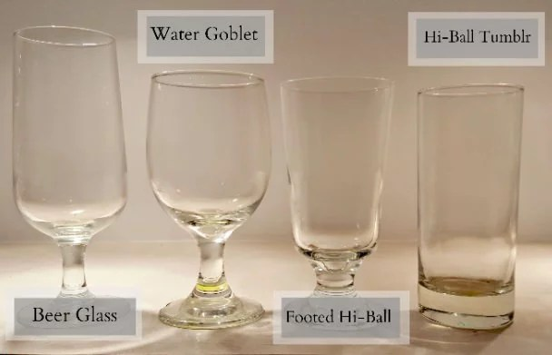 Stemware Rentals - Water and Beer Glasses