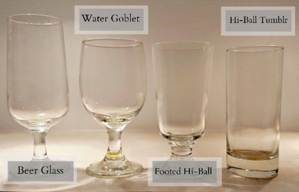 Glassware Rentals - Water and Beer Glasses
