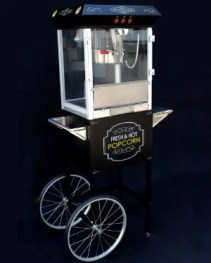Black Popcorn Machine