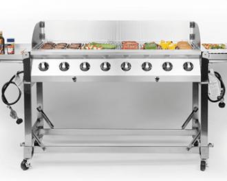 24x48 silver grill BBQ