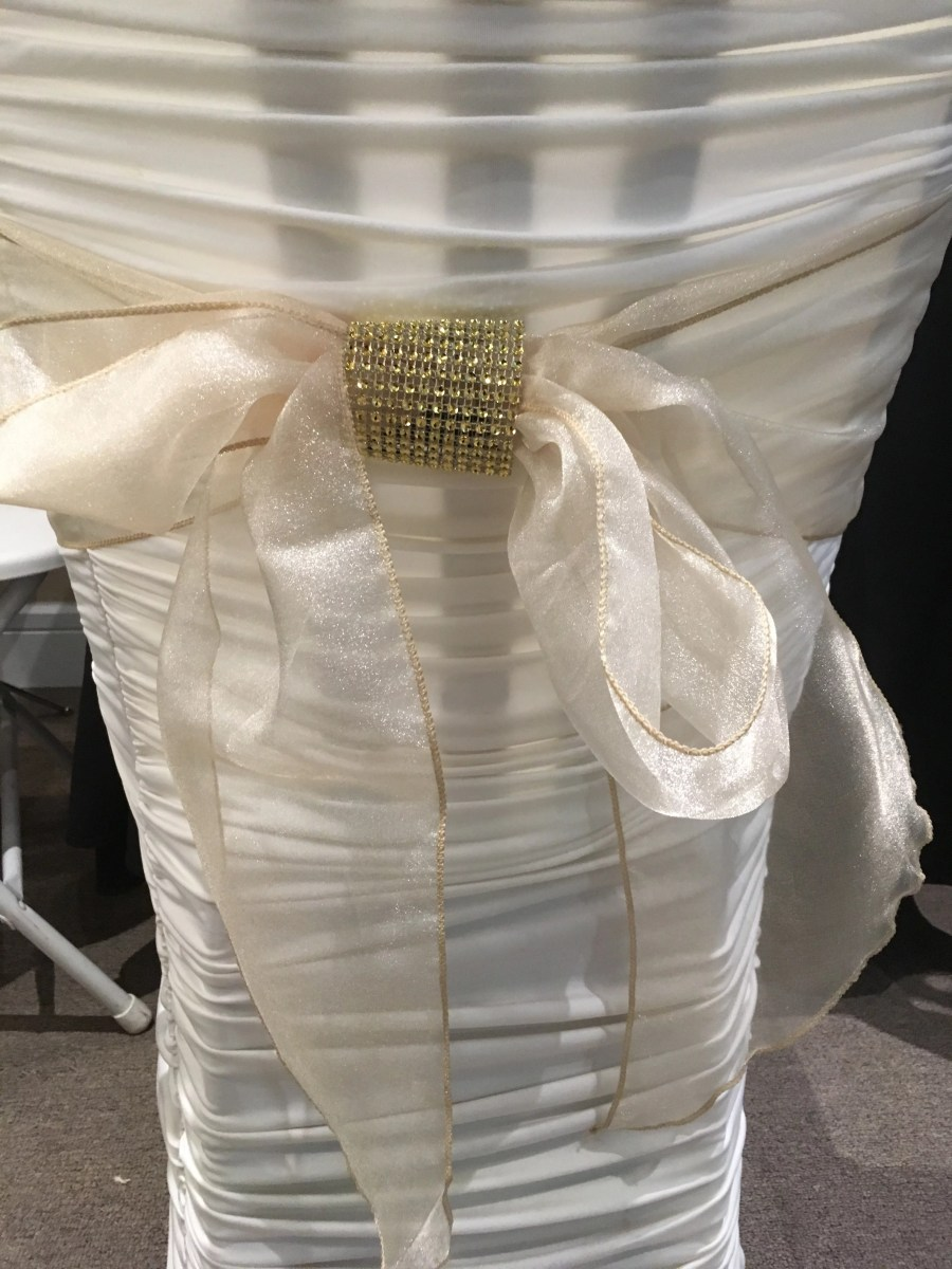 Bow with Rhinestone wrap - GOLD