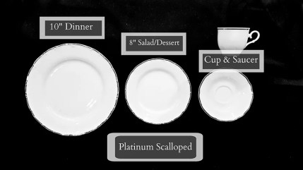Platinum Scalloped Dinnerware