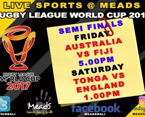 Meads in Bali Sports Schedule Rugby League World Cup