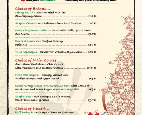 Meads In Bali Christmas New Years Eve Set Menu 2017