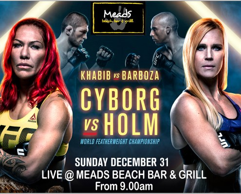 Whats On @ MeadsInBali Sports : UFC Cyborg v Holm