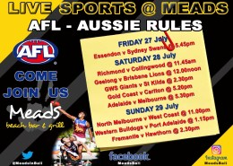 Meads in Bali Sports AFL Live @ Meads Bali