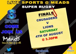 LIVE SPORTS MEADS BALI - SUPER RUGBY