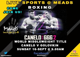 Meads in Bali Sports Schedule Boxing