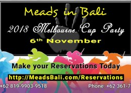 Meads in Bali 2018 Melbourne Cup