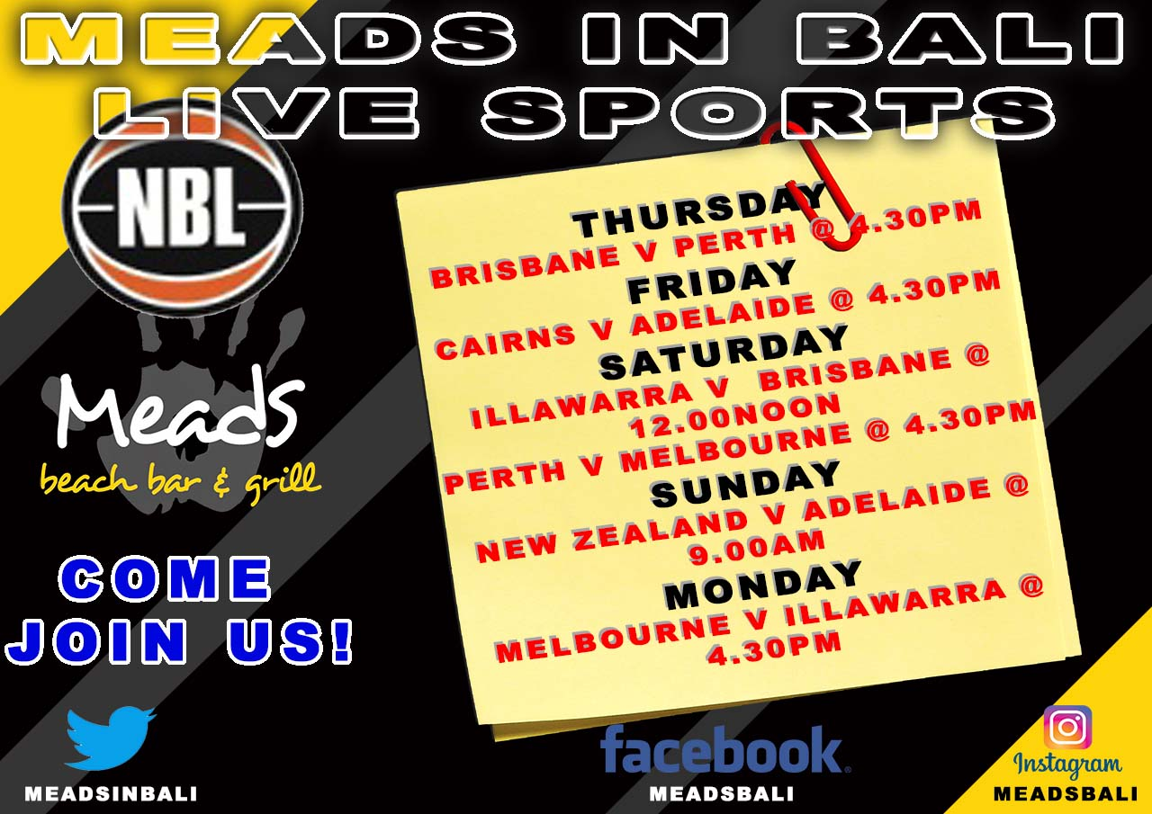 Meads in Bali Sports Schedule NBL