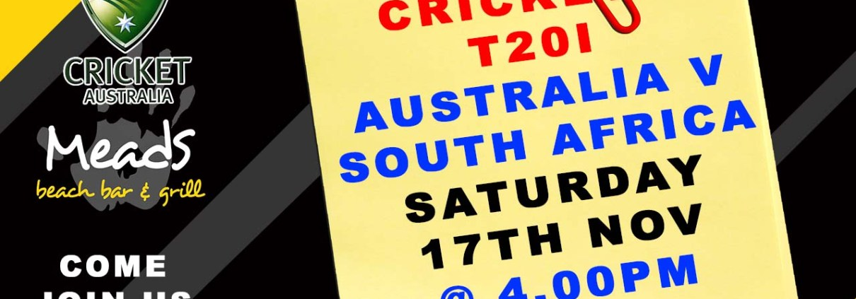 CRICKET : T20I Australia v South Africa